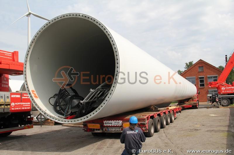фото части башни ветрогенератора из германии