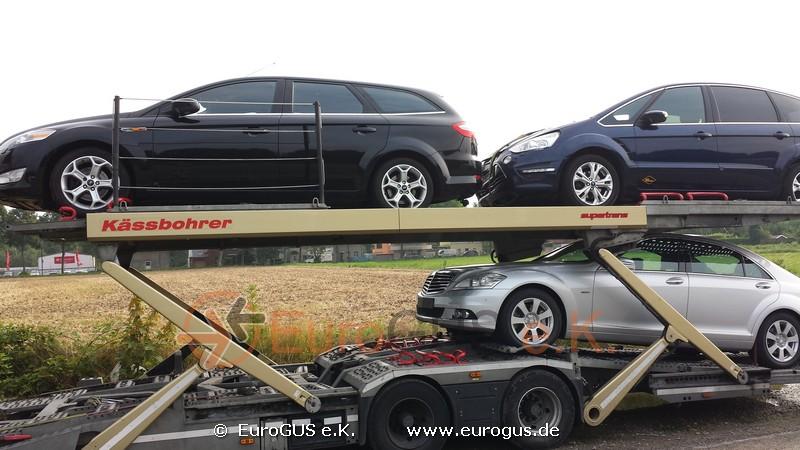 Машины на автовозе, доставка из Германии